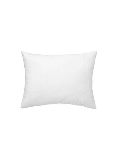 Maki %100 Pamuklu 2 Adet 50x70 Yastık Kılıfı Beyaz Beyaz